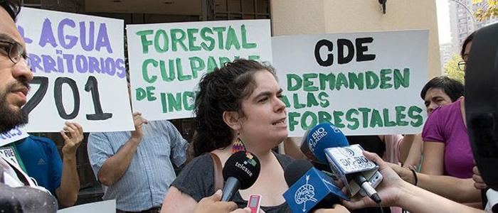 Francisca Fernández, vocera del Movimiento por la Recuperación del Agua y la Vida,