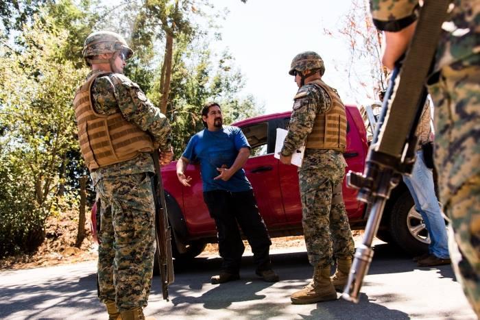 Militares en Ercilla. 24 de febrero de 2019. Gentileza del fotografo Camilo Tapia.