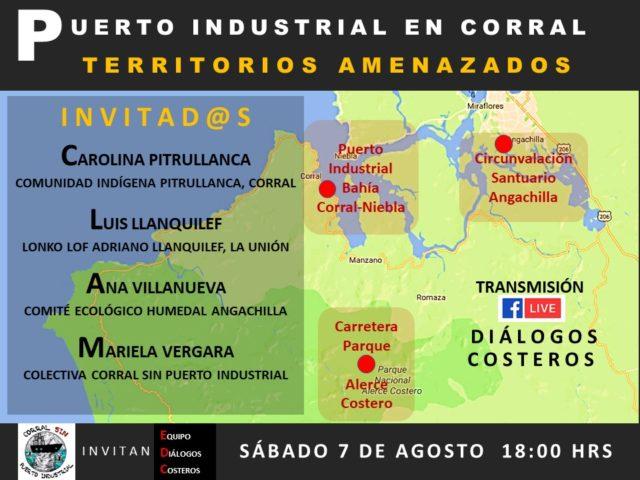 """Valdivia: Realizarán conversatorio """"Puerto Industrial de Corral – Territorios Amenazados"""""""